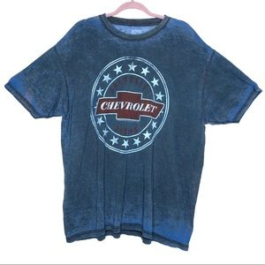 GM Chevrolet Blue Burnout T-shirt